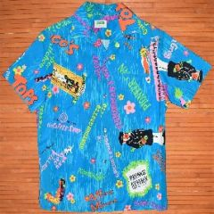 Malihini Blue Elvis Local Restaurant Hawaiian Shirt