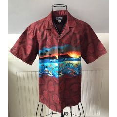 Hawaii Sunrise Sea Life Aloha Shirt