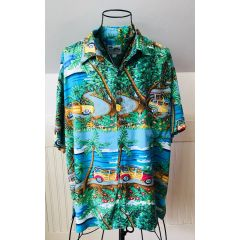 Ron Anderson for Kahala Who Let The Dogs Out? Aloha Shirt