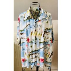 Kahala Hawaiian Postcards Aloha Shirt