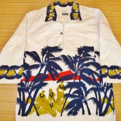 Napili Native Hawaiian Sceen Aloha Pullover Shirt