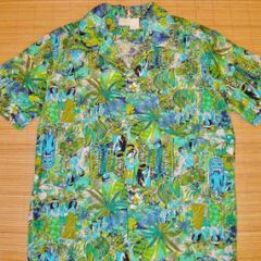 Hawaii Native Hawaiian King Hula Dancers Matson Menu Shirt