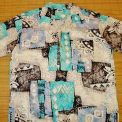 Sun Dek Bark Cloth Mod Shirt