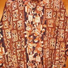 Hawaiian Togs Long Sleeve Ukulele Tapa Shirt