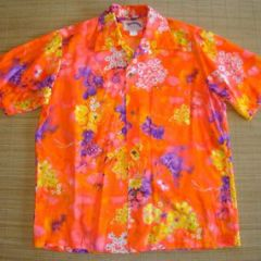 Ethnics Neon Orange Hawaiian Shirt
