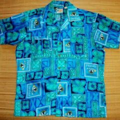 Waikiki Holiday Blue Hawaiian Primo Beer Surf Shirt