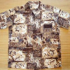 Made in Hawaii Mod Hawaiian Tribal Tiki Shirt
