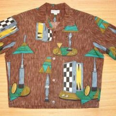Duke Kahanamoku Hawaiian Bowling Martini Shirt