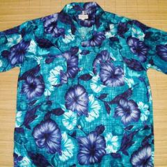 Orchids of Hawaii Elvis Blue Hibiscus Hawaiian Shirt