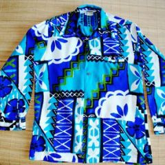 Richard Douglas Honolulu Bark Cloth Shirt