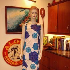 Alfred Shaheen Mums Long Dress