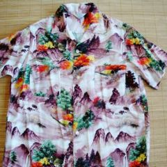 Penney's Rayon Japan Mt. Fuji Shirt