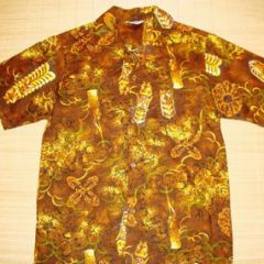 Made in Hawaii Tiki Idol Hawaiian Shirt