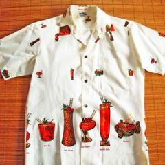 Paradise Hawaii Hawaiian Cocktails Volcano Shirt