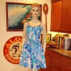 Dewese Designs Floral Resort Beach Pool Dress