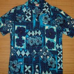 Barefoot In Paradise Blue Hawaii Shirt