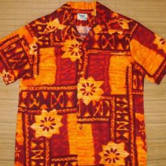 Pacific Isle Tribal Lava Fire Hawaiian Shirt