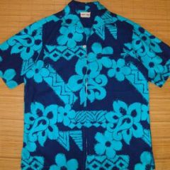 Liberty House Blue Hawaii Elvis Aloha Shirt