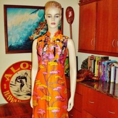 Peter Max Inspired Asian Geisha Theme Dress