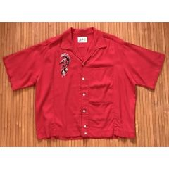 Hoaloha Rockabilly Red Bowling Shirt