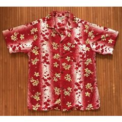 Made in Hawaii Red Floral Aloha Shirt