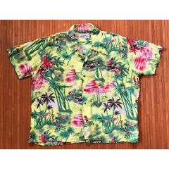 Kmart Sunset Paradise Palms Hawaiian Shirt