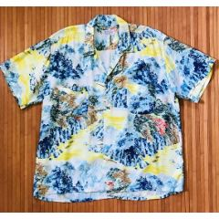 Penney's Asian Garden Aloha Shirt
