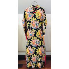 Kahana Manufacturing Co. Pake Muu Hawaiian Pa'ina Dress