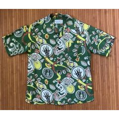 Okolehao Sea Shells by the Sea Shore Vintage Hawaiian Shirt