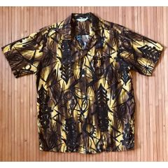 Made in Hawaii Tapa Tiki Iniki Vintage Hawaiian Shirt