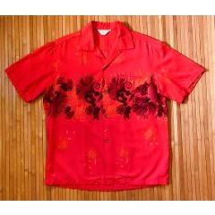 Hawaiian Togs Red Floral Aloha Shirt