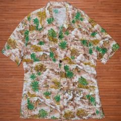 Surfer Palm Trees Volcano Village Shirt
