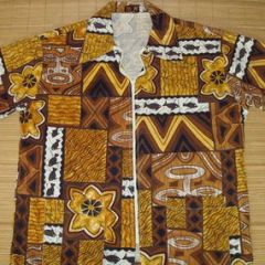 BU DU Tiki Tribal Hawaiian Shirt Jacket