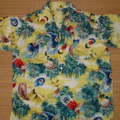 Aloha Peacock Feather Jungle Shirt