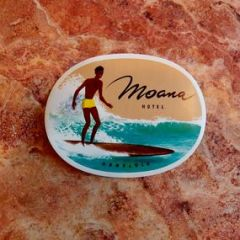 Antique Moana Hotel Hawaii Tourist Sticker