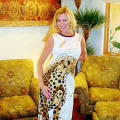 Alfred Shaheen Leopard Sexy Long Dress