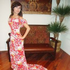 Penelopes Rayon Hawaiian Wedding Dress