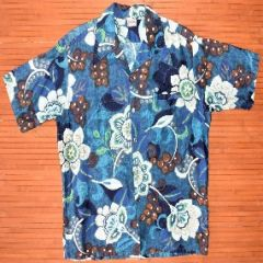 Barefoot in Paradise Flower Power Vintage Aloha Shirt