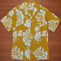 Yellow Floral Leaves Vintage Shirt