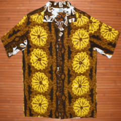Hawaiian Surf Chestnut Flower Spiral Shirt