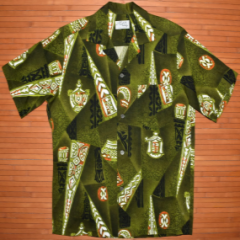 Pali Olive Crackle Arrow Hawaiian Shirt
