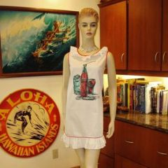 Ladies Vintage 60s Coca Cola Hawaiian Dress