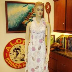 Alfred Shaheen Paisley Flowers Long Dress