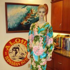 Alice Polynesian Floral Asian Style Dress