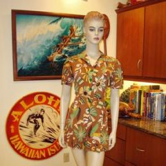 Native Tropical Rayon Hawaiian Romper