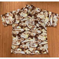 Kilohana Brown Aloha Tower Lurline Arrival Shirt
