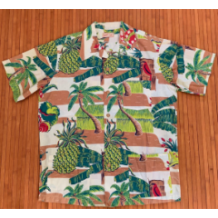 Jantzen Little Grass Shack Pineapple Paradise Shirt